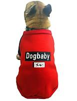 baratos -Cachorros Moletom Roupas para Cães Personagem / Formais / Slogan Cinzento / Vermelho Algodão Ocasiões Especiais Para animais de estimação Unisexo Estilo Romântico / Casual