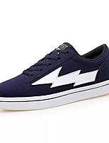 Недорогие -Муж. Комфортная обувь Полиуретан Осень На каждый день Кеды Дышащий Черный / Темно-синий / Серый