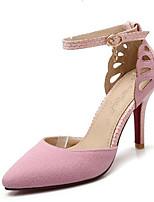 baratos -Mulheres Sapatos Confortáveis Couro Ecológico Verão Saltos Salto Agulha Preto / Cinzento / Rosa claro
