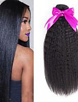 Недорогие -6 Связок Перуанские волосы Яки 8A Натуральные волосы Человека ткет Волосы Пучок волос One Pack Solution 8-28 дюймовый Нейтральный Естественный цвет Ткет человеческих волос Машинное плетение