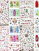 baratos -4 pcs Adesivo de folha Floco de Neve / Árvore de Natal arte de unha Manicure e pedicure Melhor qualidade Romântico Natal