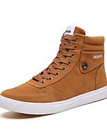 Недорогие -Муж. Комфортная обувь Замша Осень На каждый день Кеды Черный / Серый / Желтый