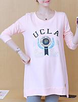 Недорогие -женская выходная футболка - буква шея
