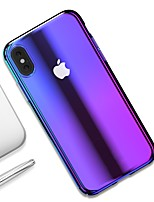 billiga -fodral Till Apple iPhone XR / iPhone XS Max Ultratunt / Genomskinlig Skal Färggradient Hårt PC för iPhone XS / iPhone XR / iPhone XS Max
