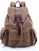 Недорогие -Жен. Мешки холст рюкзак Молнии Темно-синий / Кофейный / Темно-серый