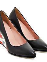 abordables -Femme Chaussures de confort Microfibre Printemps Chaussures à Talons Hauteur de semelle compensée Blanc / Noir / Rose
