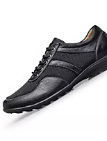 Недорогие -Муж. Комфортная обувь Полиуретан Весна & осень Туфли на шнуровке Черный / Винный / Темно-русый