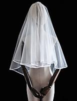 Недорогие -Два слоя Классика Свадебные вуали Фата до локтя с Бахрома / Отделка Тюль