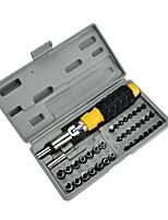 baratos -41pc casa de plástico alça combinação ferramenta manual combinação pacote chave de fenda set