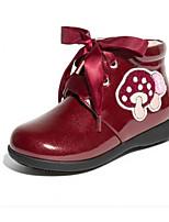 Недорогие -Девочки Обувь Синтетика Наступила зима Удобная обувь Кеды Цветы из сатина для Дети Черный / Винный