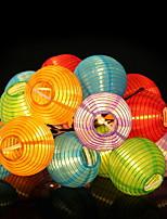 abordables -4m Guirlandes Lumineuses 20 LED Blanc Chaud Solaire / Décorative Alimentation Solaire 1 set