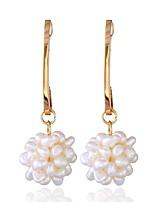abordables -Femme Blanc Blanc Gemme Classique Boucles d'oreilles - Cœur Européen Blanc Pour Vacances Sortie