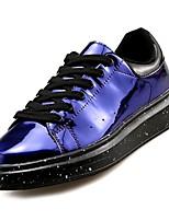 Недорогие -Муж. Комфортная обувь Полиуретан Осень Кеды Черный / Серебряный / Синий