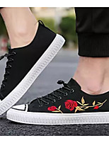 Недорогие -Муж. Комфортная обувь Полотно Осень Кеды Белый / Черный / Красный