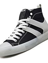 Недорогие -Муж. Комфортная обувь Полотно / Полиуретан Осень На каждый день Кеды Нескользкий Контрастных цветов Черный / Серый / Красный