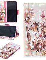 Недорогие -Кейс для Назначение Apple iPhone XS / iPhone XS Max Кошелек / Бумажник для карт / со стендом Чехол Кот Твердый Кожа PU для iPhone XS / iPhone XR / iPhone XS Max