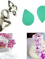 baratos -5 pcs borboleta pétala de flor de orquídea cortador de moldes de decoração do bolo fondant sugarcraft