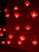 Недорогие -10 м Гирлянды 100 светодиоды Красный Декоративная 220-240 V 1 комплект