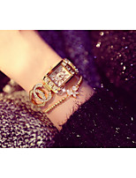 baratos -Mulheres Relógio de Pulso Quartzo Adorável imitação de diamante Lega Banda Analógico Fashion Natal Prata / Dourada - Prata Dourado / Aço Inoxidável