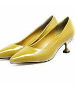 Недорогие -Жен. Балетки Лакированная кожа Весна Обувь на каблуках На шпильке Черный / Коричневый / Зеленый