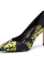 Недорогие -Жен. Комфортная обувь Сатин Осень Обувь на каблуках На шпильке Оранжевый / Желтый