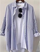 Недорогие -женская рубашка - полосатая рубашка