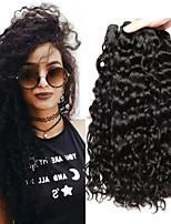 Недорогие -4 Связки Малазийские волосы Волнистые 8A Натуральные волосы Человека ткет Волосы Пучок волос One Pack Solution 8-28 дюймовый Нейтральный Естественный цвет Ткет человеческих волос Машинное плетение