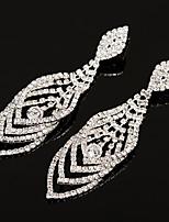abordables -Femme Zircon cubique Le style rétro Boucles d'oreille goutte - Elégant, Luxe, Gland Or / Argent Pour Mariage Soirée
