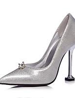 abordables -Femme Escarpins Microfibre / Polyuréthane Printemps & Automne Chaussures à Talons Talon Aiguille Bout pointu Strass Arc-en-ciel / Argent / Mariage / Soirée & Evénement