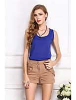 baratos -Mulheres Blusa Básico / Moda de Rua Sólido