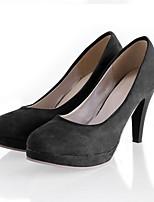 Недорогие -Жен. Комфортная обувь Полиуретан Осень Обувь на каблуках На шпильке Черный / Синий