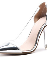 Недорогие -Жен. Комфортная обувь Синтетика Весна Обувь на каблуках На шпильке Золотой / Серебряный / Розовый