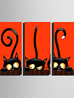 billiga -Tryck Stretchad Kanvastryck - Djur / Halloween Moderna