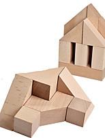 Недорогие -Конструкторы Геометрический узор Cool утонченный деревянный Детские Все Игрушки Подарок 1 pcs