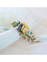 Недорогие -Свадебные цветы Букетик на запястье Свадьба / Для праздника / вечеринки Кружево / Ткань 0-10 cm