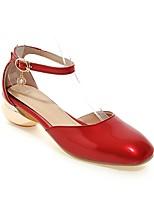 Недорогие -Жен. Комфортная обувь Полиуретан Весна лето Обувь на каблуках Гетеротипическая пятка Красный / Розовый