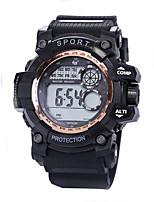 Недорогие -Муж. Спортивные часы Цифровой 30 m Защита от влаги ЖК экран Фосфоресцирующий силиконовый Группа Цифровой Винтаж Мода Черный - Зеленый Синий Розовое золото