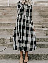 baratos -algodão das mulheres um vestido de linha midi