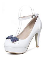Недорогие -Жен. Комфортная обувь Полиуретан Весна Обувь на каблуках На шпильке Белый / Желтый / Розовый