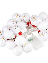 abordables -BRELONG® 2,2m Guirlandes Lumineuses 10 LED LED Dip Blanc Chaud / RVB / Blanc Créatif / Soirée / Décorative Piles AA alimentées 1 set