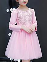 Недорогие -Дети Девочки Пэчворк Длинный рукав Платье