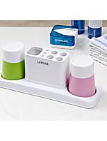 Недорогие -Стакан для зубных щеток Прост в применении Модерн ПВХ 2pcs Зубная щетка и аксессуары