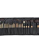 billiga -24pcs Makeupborstar Professionell Rougeborste / Ögonskuggsborste / Läppensel Nylon fiber Fullständig Täckning Trä / Bambu