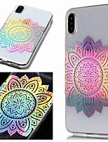 baratos -Capinha Para Apple iPhone XR / iPhone XS Max IMD / Transparente / Estampada Capa traseira Flor Macia TPU para iPhone XS / iPhone XR / iPhone XS Max