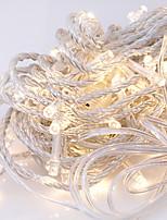 Недорогие -10 м Гирлянды 100 светодиоды Тёплый белый Декоративная 220-240 V 1 комплект