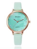 billiga -Dam Armbandsur Quartz Vardaglig klocka PU Band Ramtyp Mode Svart / Vit / Grön - Beige Rosa ljusgrön