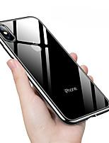 Недорогие -Кейс для Назначение Apple iPhone XS / iPhone XS Max Покрытие Кейс на заднюю панель Однотонный Мягкий ТПУ для iPhone XS / iPhone XR / iPhone XS Max