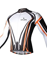 abordables -ILPALADINO Femme Manches Longues Maillot de Cyclisme - Blanc Mode Cyclisme Hauts / Top Hiver, Elasthanne