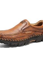 Недорогие -Муж. Официальная обувь Наппа Leather Осень Винтаж / На каждый день Мокасины и Свитер Массаж Коричневый / Хаки