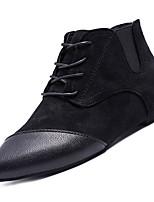 Недорогие -Жен. Fashion Boots Полиуретан Осень Минимализм Ботинки На плоской подошве Заостренный носок Ботинки Черный / Коричневый